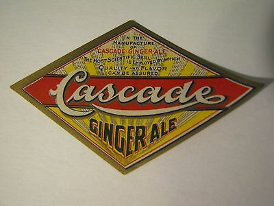 Vintage Cascade Ginger Ale Soda Bottle Label