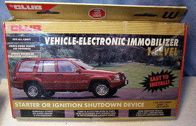 ** the CLUB -- Vehicle Electronic Immobilizer - Remote Starter & ALARM - NEW !!!