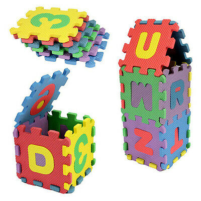 Baby Kids Alphanumeric Educational Puzzle Blocks Intelligence Development Toy