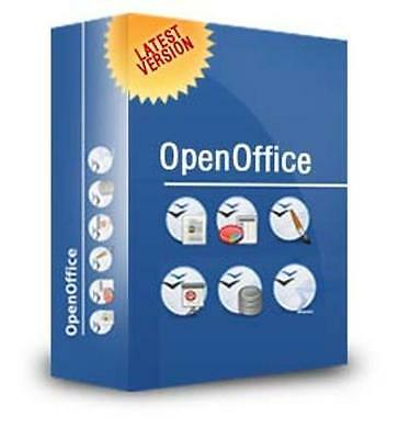 Openoffice 2016 For Microsoft Windows - Word & Excel Compatible + Free Content