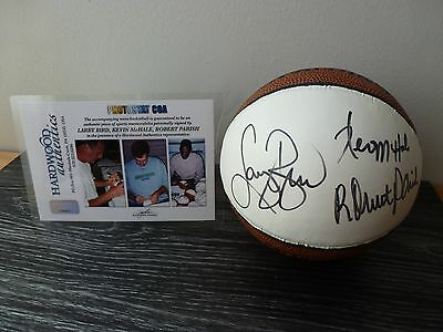 Mini basketball signed by Bird, Parrish and McHale of the Boston Celtics - NBA