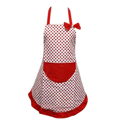 Red Polka Dot Full Adult Apron Cooking Baking Kitchen Pretty Design