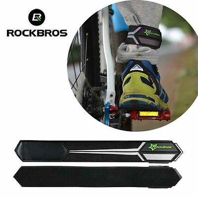 Rockbros Safety Cycling Reflective Straps 1 Pair Leg Strap Pants Clip Foot Bands