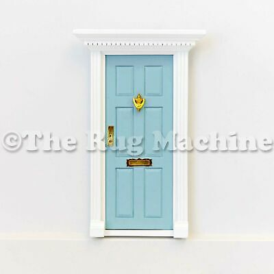 MAGICAL FAIRY DOOR - PALE BLUE Wooden Miniature Doll Size|Aussie Company **NEW**