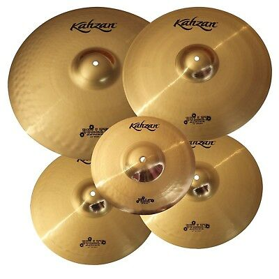 """New Kahzan """"Bullet"""" Series 14""""/16""""/20"""" Cymbal Pack for Drum Kit"""