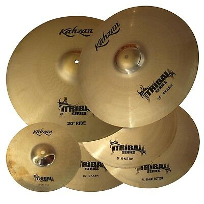 """New Kahzan """"Tribal"""" Series 14""""/16""""/18""""/20"""" Cymbal Pack for Drum Kit"""
