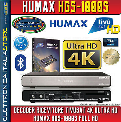 DECODER RICEVITORE SATELLITARE TIVUSAT 4K ULTRA HD Humax HGS-1000S FULL HD