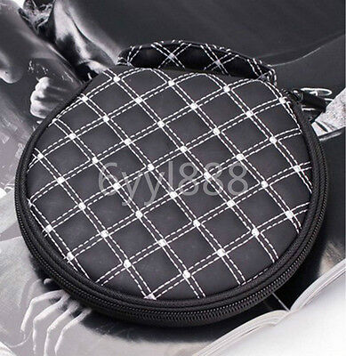 1Pcs Round Car CD DVD 20 pcs Storage Holder Wallet Case Bag Black & white line