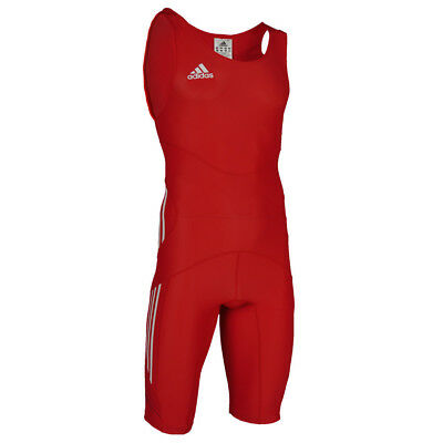 Adidas adipower Men's Wrestling Suit Singlet Powerweb - RED - TOTAL SALE