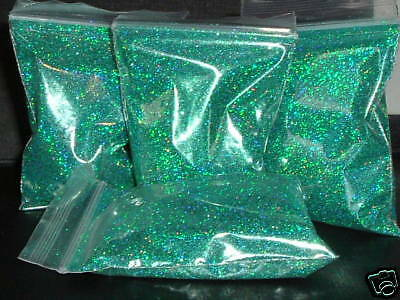 metal flake glitter green double size hologram boat bmx