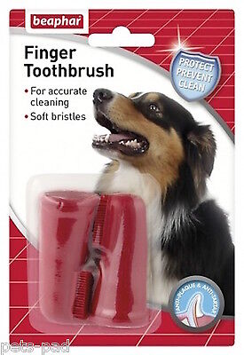 Beaphar Dog Finger  Toothbrush, Comfortable, Easy Tooth Cleaning,