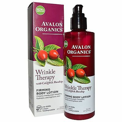 Avalon Organics Wrinkle Therapy with CoQ10 & Rosehip Firming Body Lotion 8 oz