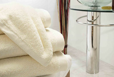 Luxury Cream 750 GSM Thick Supersoft & Absorbent 100% Egyptian Cotton Towels