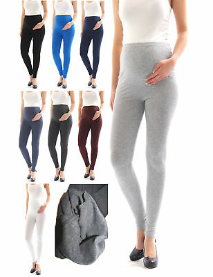 Umstandsleggings Thermo Fleece innen Hose lang Umstand-Leggings Baumwolle