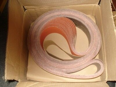 "3M Abrasive Belts Coated 3"" x 132"" OAL Ceramic 80 Grit Medium  QTY  25 