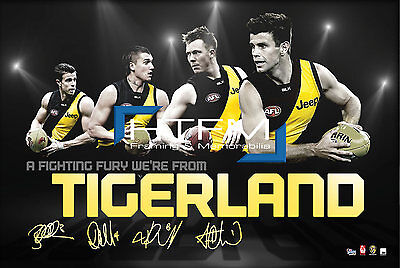 RICHMOND Four Player Facsimile AFL Official Licensed Print COTCHIN MARTIN