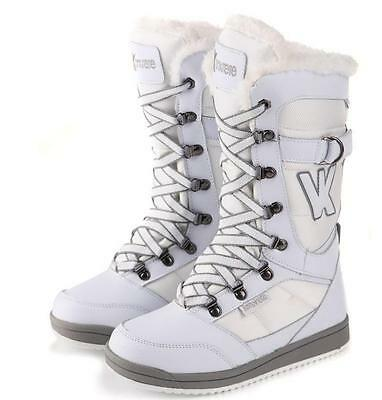 NEW Women US Size 8 9 10 11  Waterproof  White Snow Boots Skiing Snowboarding