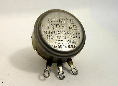 OHMITE 750 Ohm Type AB 2W Sealed Pot Potentiometer Linear NOS USA