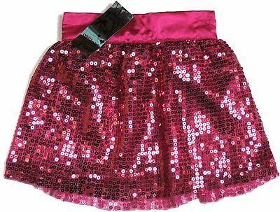 Girls Pretty Hot Pink Party Sequin Skirt 2-3 Years Bnwt