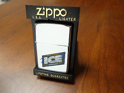 Budweiser Ice Draft Beer Anheuser Busch Zippo Lighter Mint In Box 1995