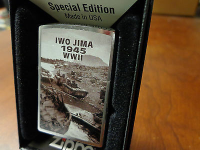 Iwo Jima 1945 Wwii Zippo Lighter Mint In Box