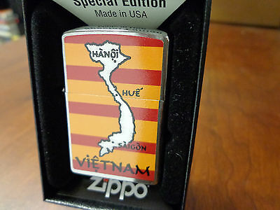 Vietnam Map Vietnam War Zippo Lighter Mint In Box