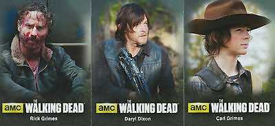 The Walking Dead Season 4 Part 1 - Characters Insert Chase Trading Card Set