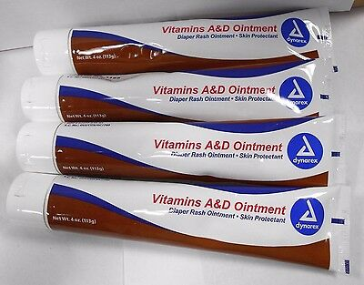 Dynarex Vitamins Ad Ointment 4oz 4 Pack Exp Date 11 2018 1081