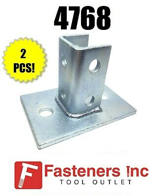 2 FLEX STRUT 4 HOLE CLOSED 45* CORNER ANGLE 304SS UNISTRUT CHANNEL BRACKET PO