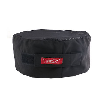 TINKSKY mesh top adjustable chefs hat skull cap black adjustable