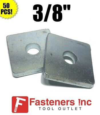 """(#4601) P1063 3/8"""" X 1-5/8 X 1-5/8 Square Washers for Unistrut Channel (50 BOX)"""
