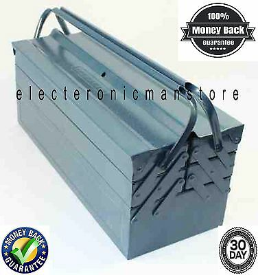 BOSENDA TOOLS CLEAROUT blue METAL TOOLBOX Tool Box Cantilever 5 Tray LARGE 530mm