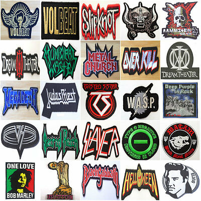 Rock / Metal / Punk Patches Embroidered Iron/Sew on Music Badges Aufnäher Toppa