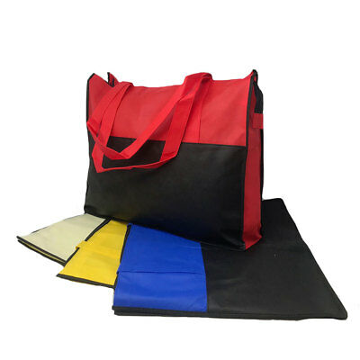 3 Bags Lot Large Big Reusable Grocery Shopping Totes Bag Travel Gym Sports