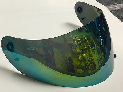Helmet Visor Iridium Mirror Oro Blu Agv K3 K4 (Non Suitable For K3Sv)