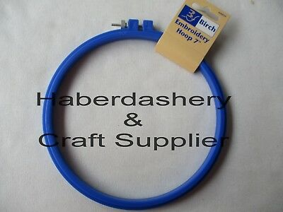 """Embroidery Hoop 8"""" Plastic With Screw*blue"""