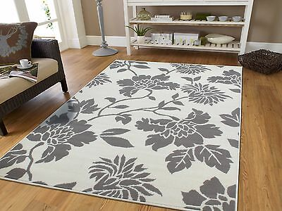 Grey Modern Rugs 8x11 Tree Branch Area Gray Carpet Flowers 5x8 Rug 2