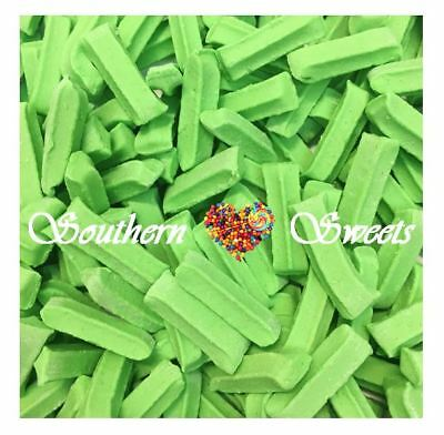MINI GREEN FRUIT STICKS 1KG Lollies Candy Buffets christmas xmas lollies