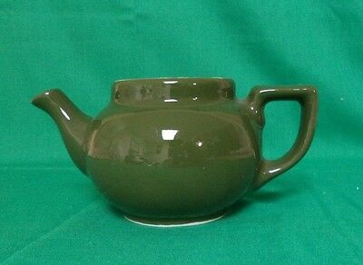 Vintage Dark Green One Cup Teapot By Hall China