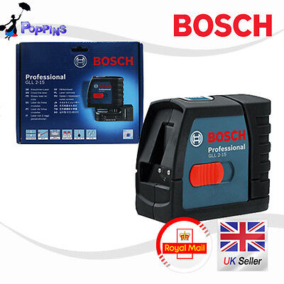 New BOSCH Professional GLL 2-15 Self Level Cross Line Laser