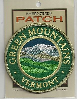 Souvenir Patch - Green Mountains, Vermont - State Of Vermont