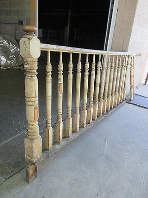 ~ Antique Railing With Newel Post Balusters 7+ Feet ~ Architectural Salvage ~