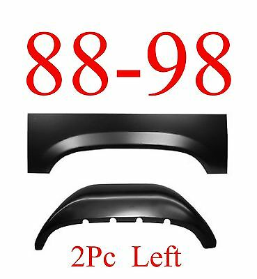 88 98 LEFT 2Pc Inner & Outer Rear Wheel Arch, Rust Reapir, Chevy & GMC Truck