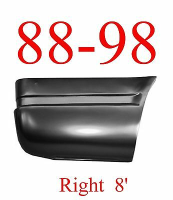 88 98 Chevy Right 8FT Lower Rear Bed Patch, Rust Repair, GMC Truck, 1.2MM Thick