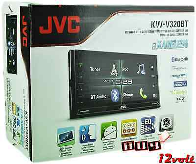 "JVC KW-V320BT 6.8"" Double DIN Bluetooth CD SiriusXM Ready + FREE BACKUP CAMERA"