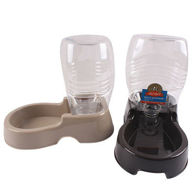 Automatic Water Dispenser Dog Cat Pet Drinking Fountain Bowl Dish 400ml Bottle