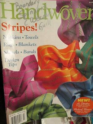 Hand Woven Magazine #114 Mar/Apr 2003-10 Projects-Stripes-Shawls Blankets Napkin