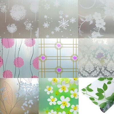Waterproof PVC Privacy Home Bedroom Bath Window Glass Film Self Adhesive Sticker