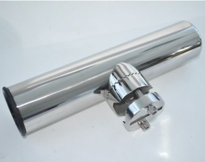 "Stainless Steel Clamp On Fishing Rod Holder For Rails 1"" to 1-1/4"""