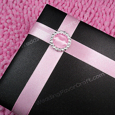 100 500 Acrylic Round Buckle Ribbon Slider Wedding Card Invitation 2cm Scrapbook